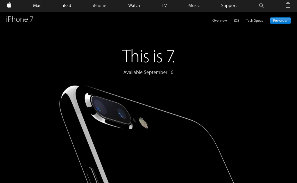 iphone 7 landing page