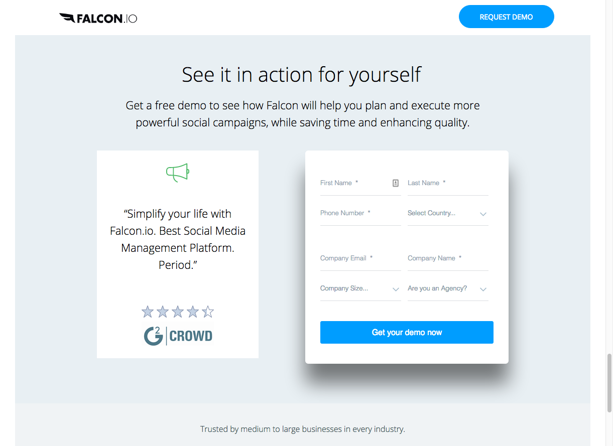 falcon.io form