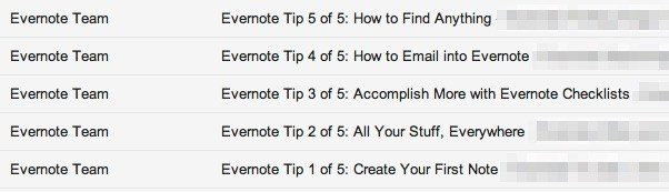 evernote onboarding tips