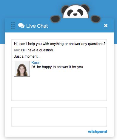 landing page design chatbox