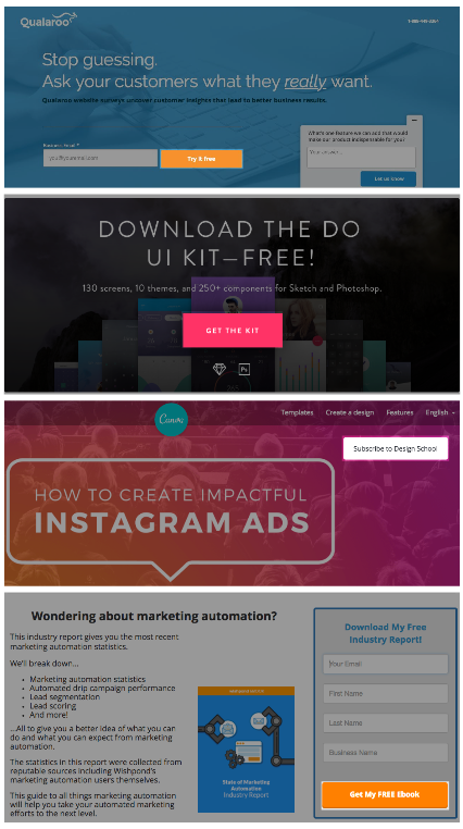 landing page design cta placement