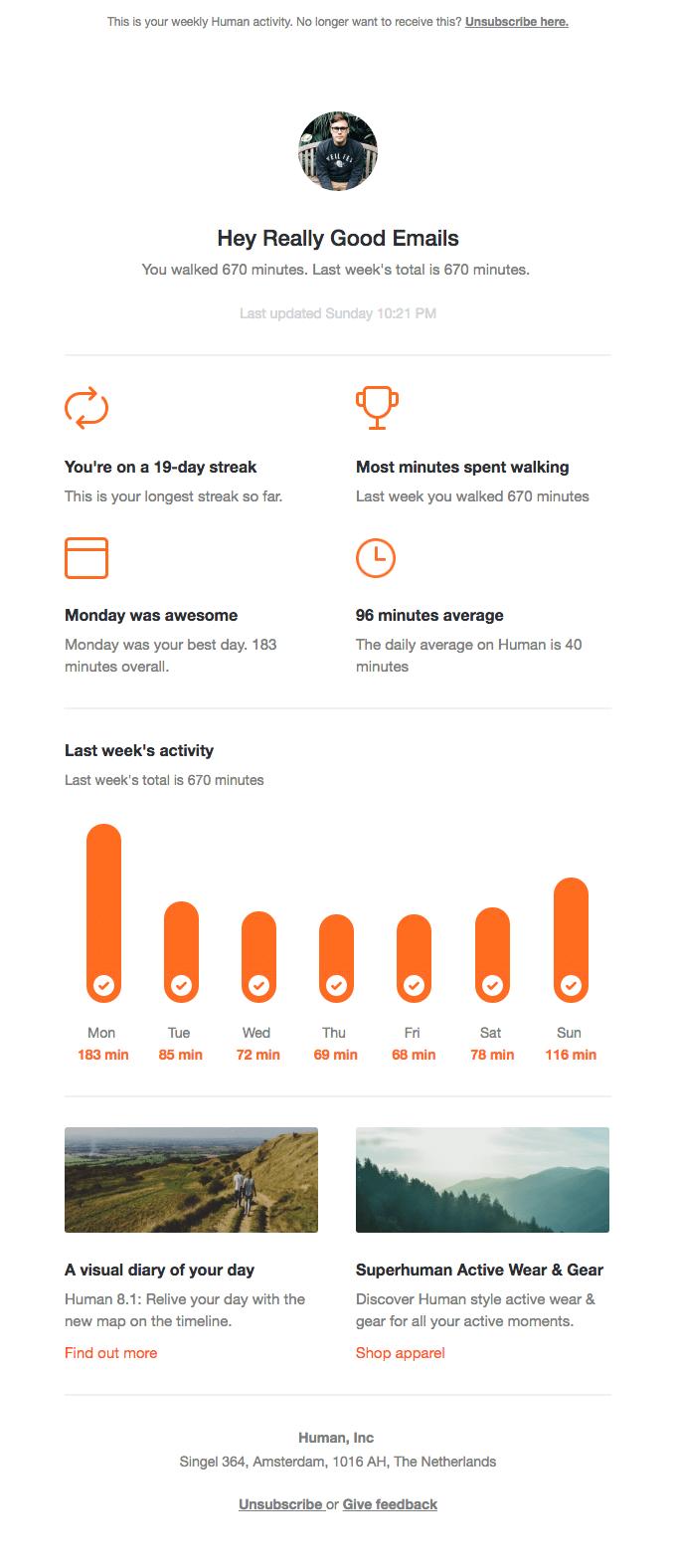 last week s 670 minutes on human