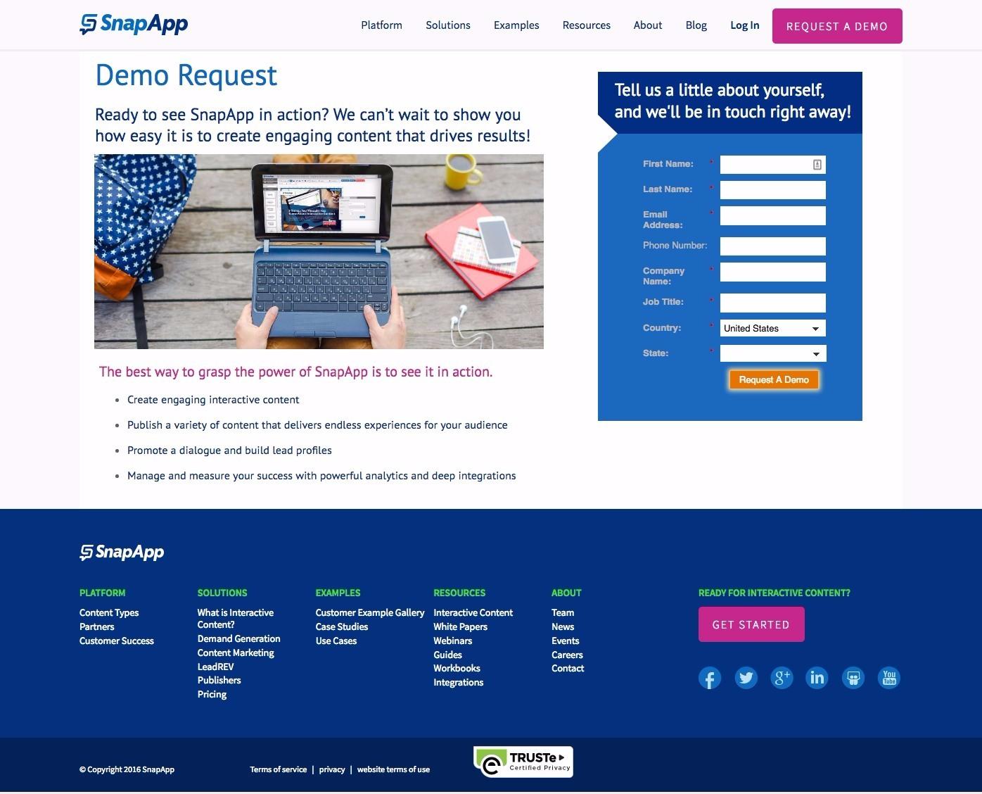 snapapp demo page
