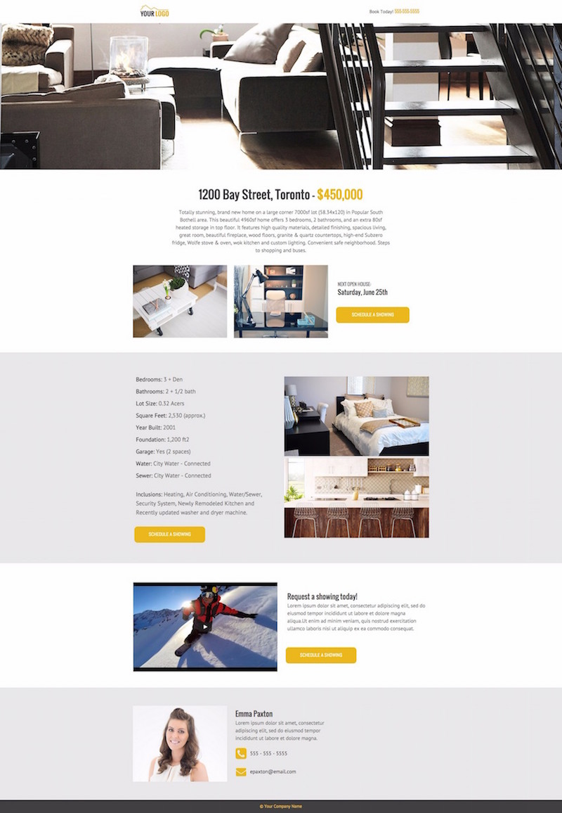 real estate landing page 4
