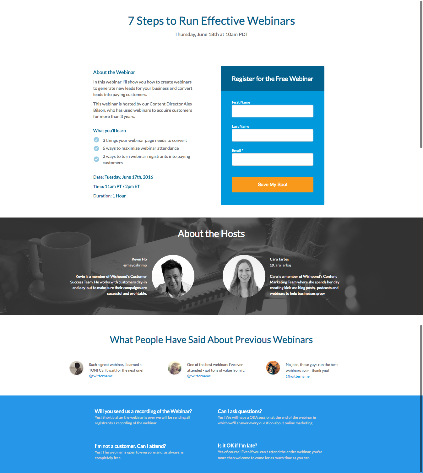 Landing Page Templates Part 2 Learn Landing Pages