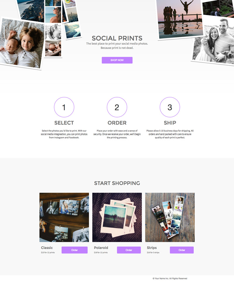 Landing page templates learn landing pages wishpond landing page template social prints fandeluxe Gallery