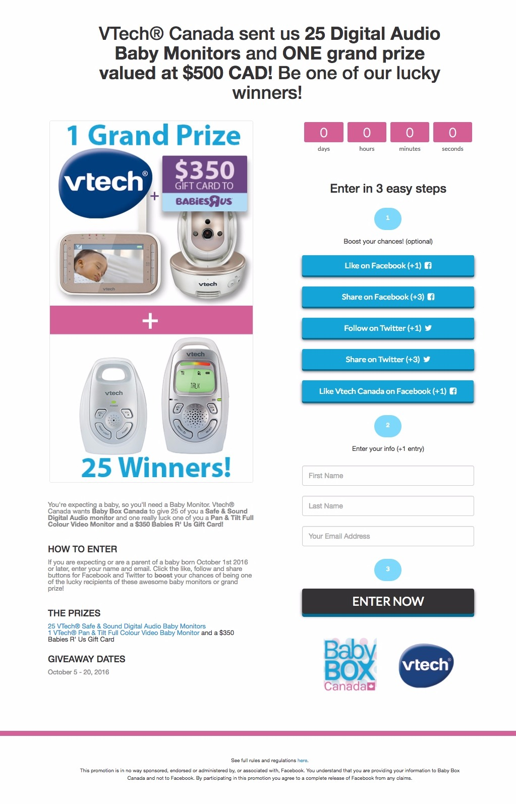 baby monitor giveaway