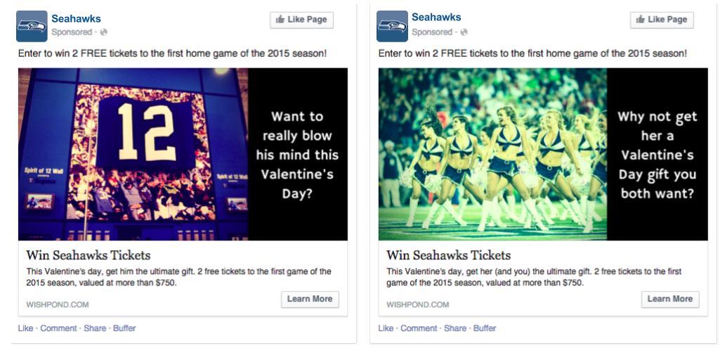 contest facebook ad