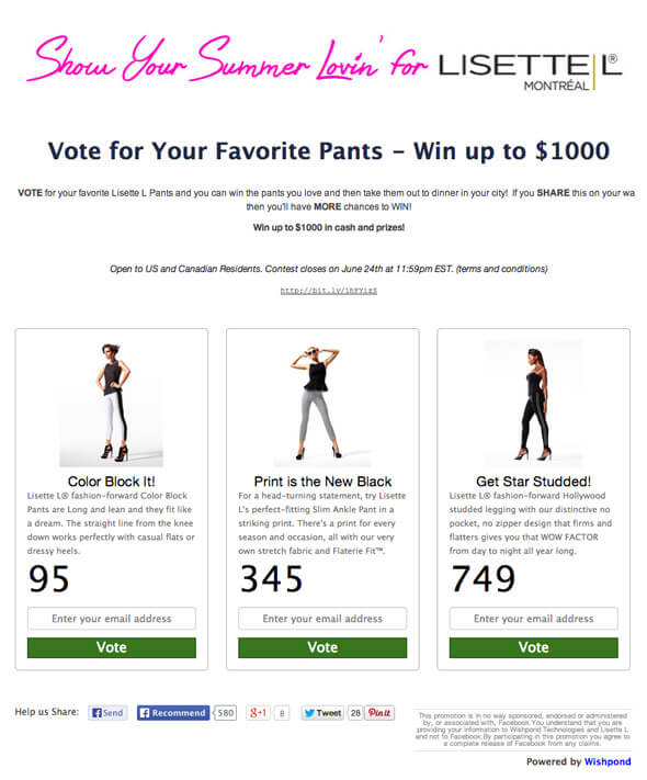 facebook contest promotion ideas 2