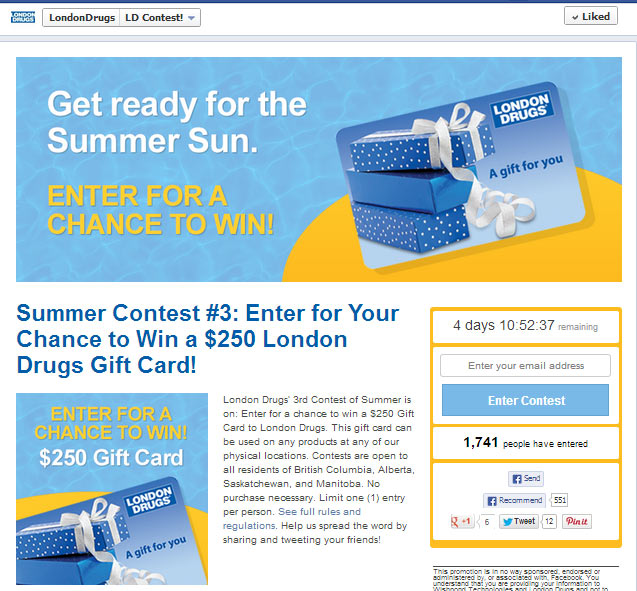 facebook giveaway ideas giftcard
