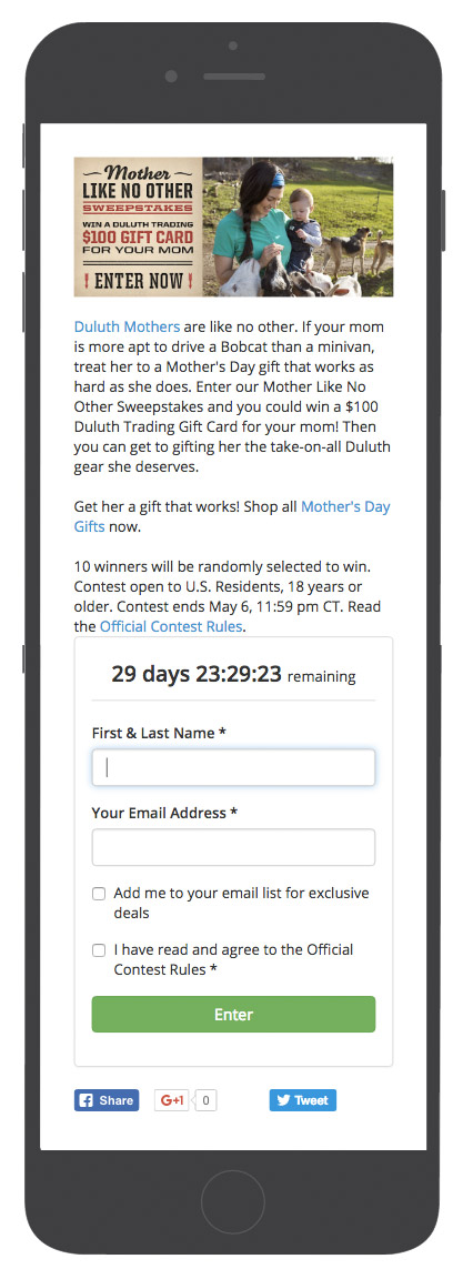 mothers day contest example