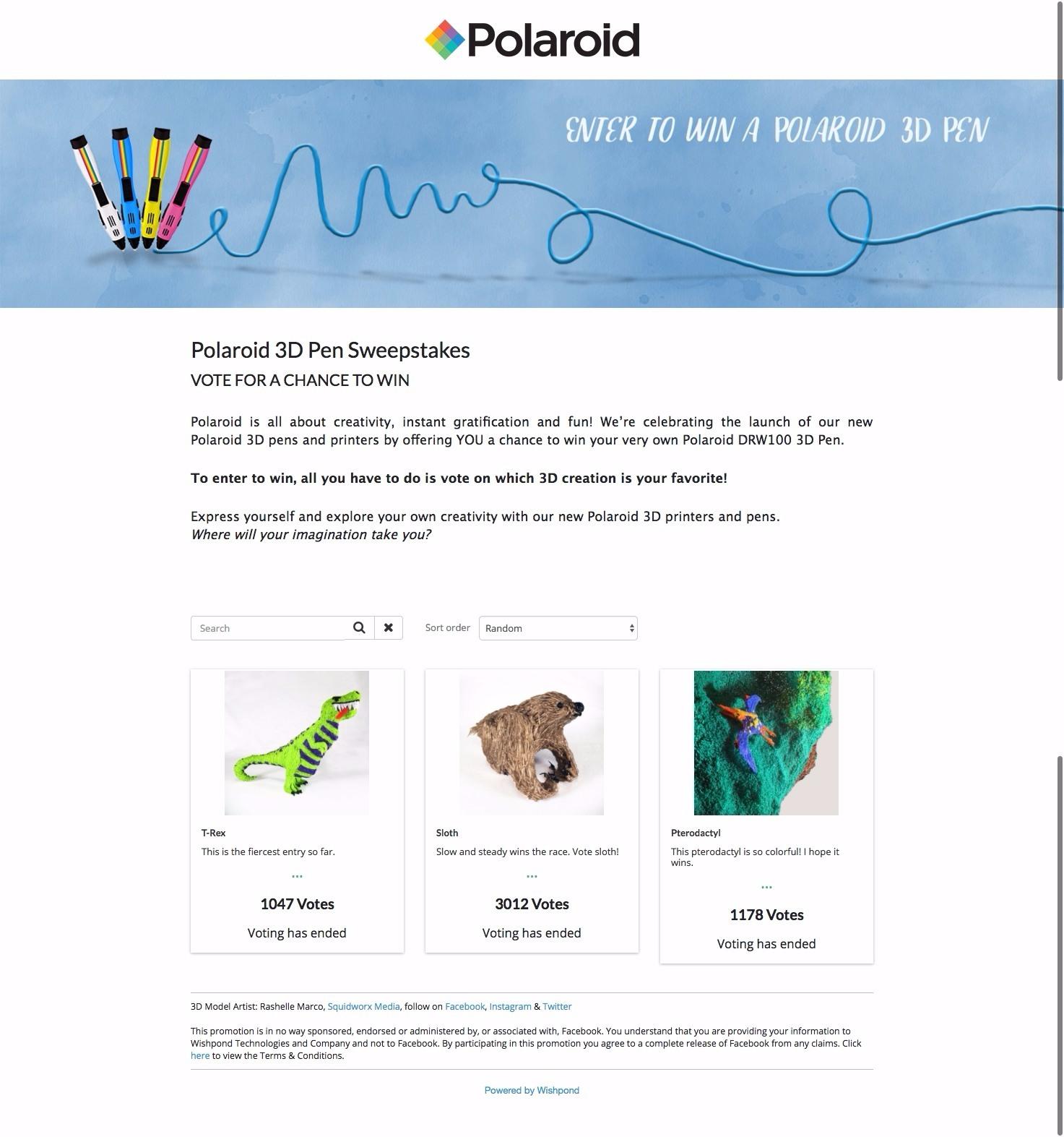 polaroid 3d pen giveaway