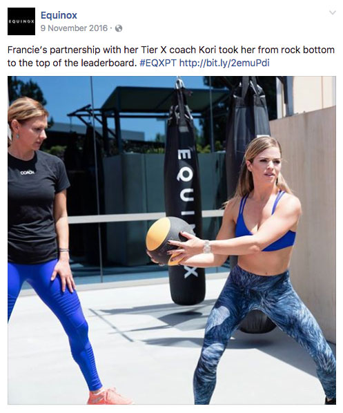fitness social media equinox 1 1